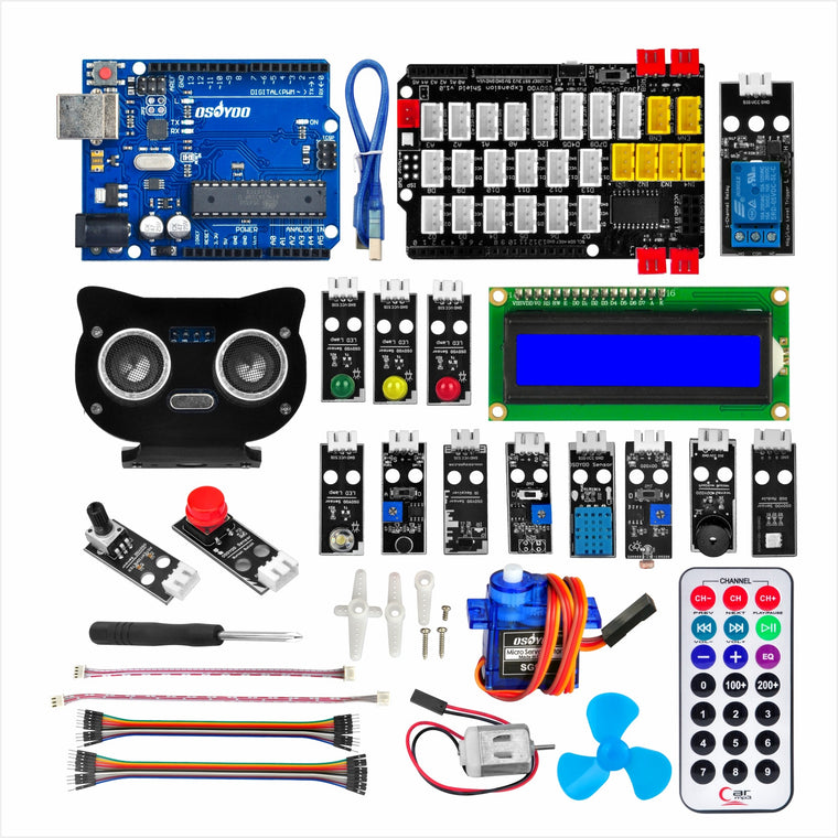OSOYOO PnP Starter Kit for Arduino | Early STEM Education for Beginners | Ultimate Bundle Includes XH2.54 Plug & Play Development Board model#2020005600