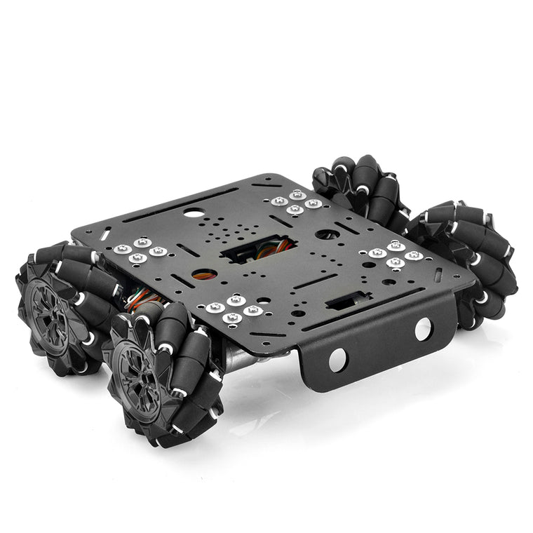 4WD Omni Wheel Robotic Mecanum Wheel Robot Car Platform Chassis with DC Speed Encoder Motor for Arduino/Raspberry Pi