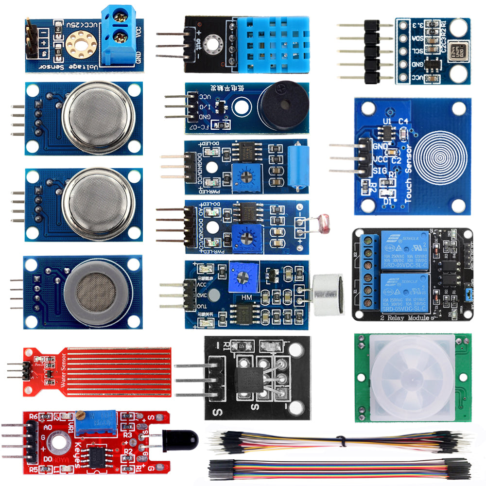 16 in 1 Smart Home Sensor Modules Kit for Arduino Raspberry Pi DIY Professional