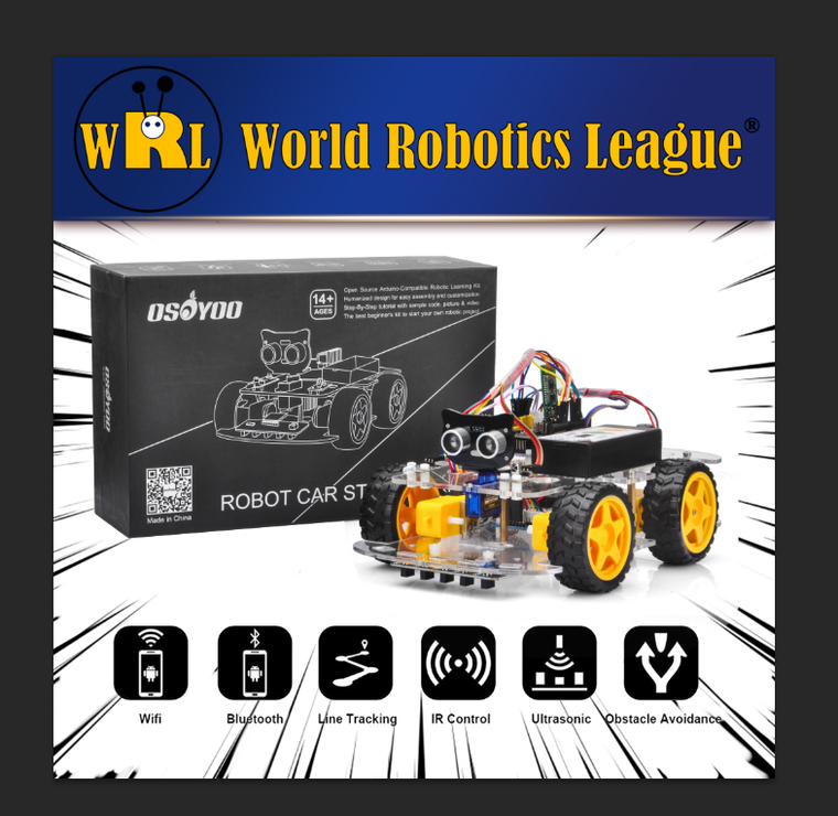World Robot League Designated Arduino Robot Car powered by OSOYOO