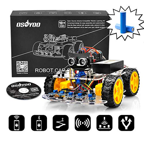 OSOYOO Robot Car Arduino learning Kit with battery and charger Model# 2019012400