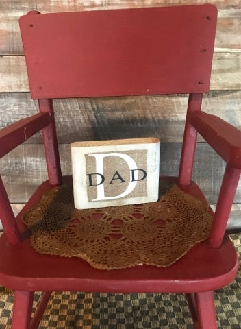 Dad burlap sign