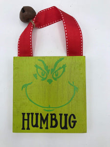 "Grinch ""Humbug"" sign"