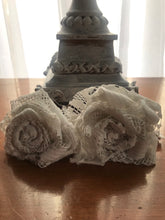 Load image into Gallery viewer, Boho White Lace hand-wrapped Rose