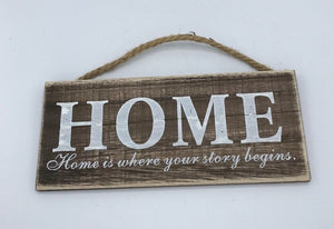 """Home"" Hanging Decor, Rustic, Shabby Chic"