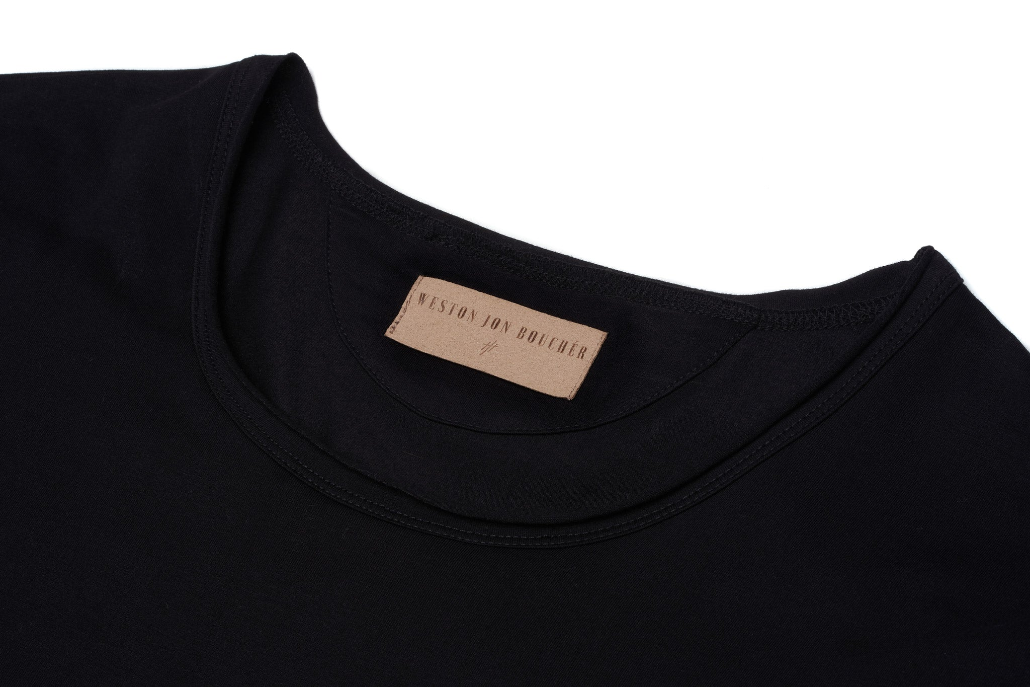 The Essential Extended Slim Fit Black Tee - weston-jon-boucher