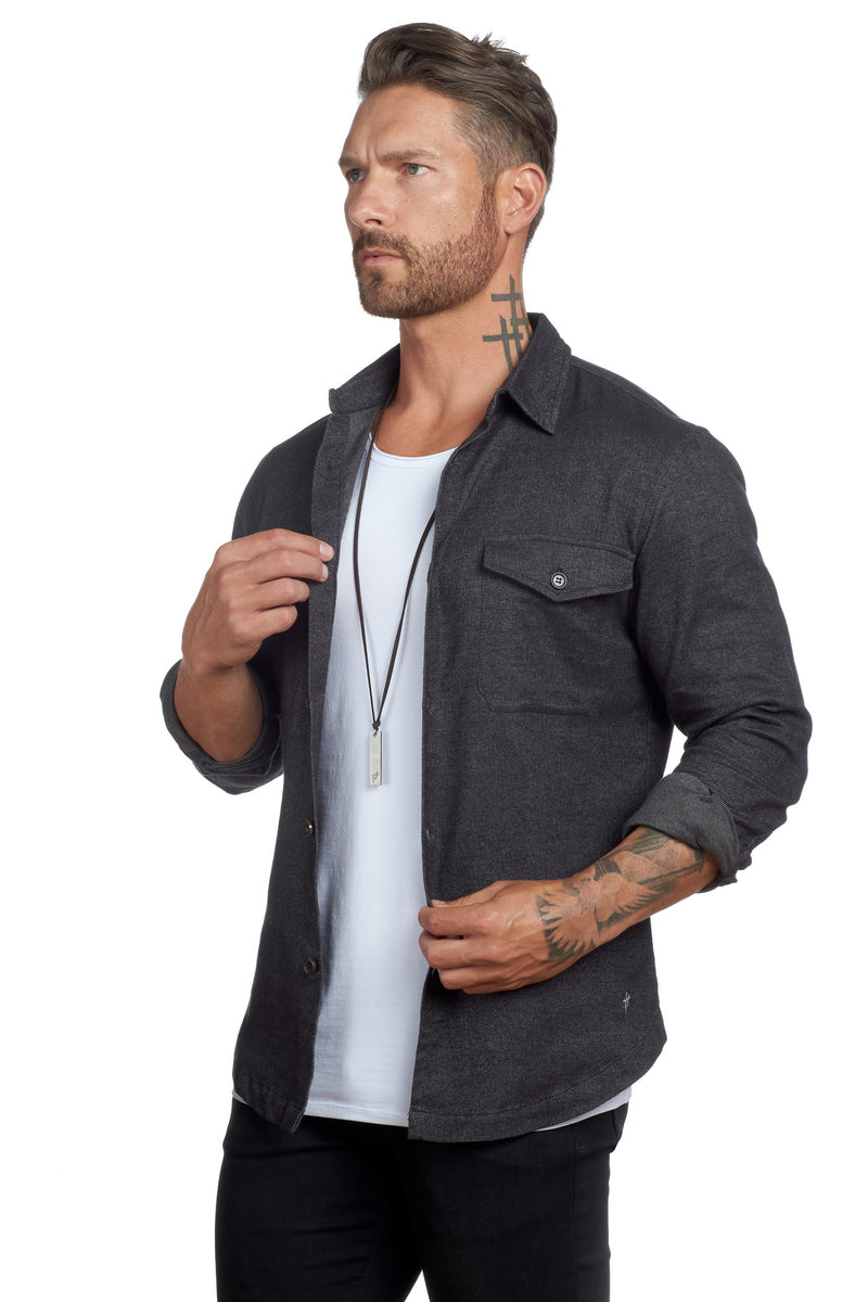 Untucked Slim Fit Button-Up - weston-jon-boucher