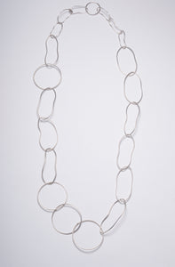 LARGE ASSYMETRICAL CHAIN STERLING