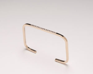 RECTANGLE DIAMOND CUFF 14 KARAT GOLD
