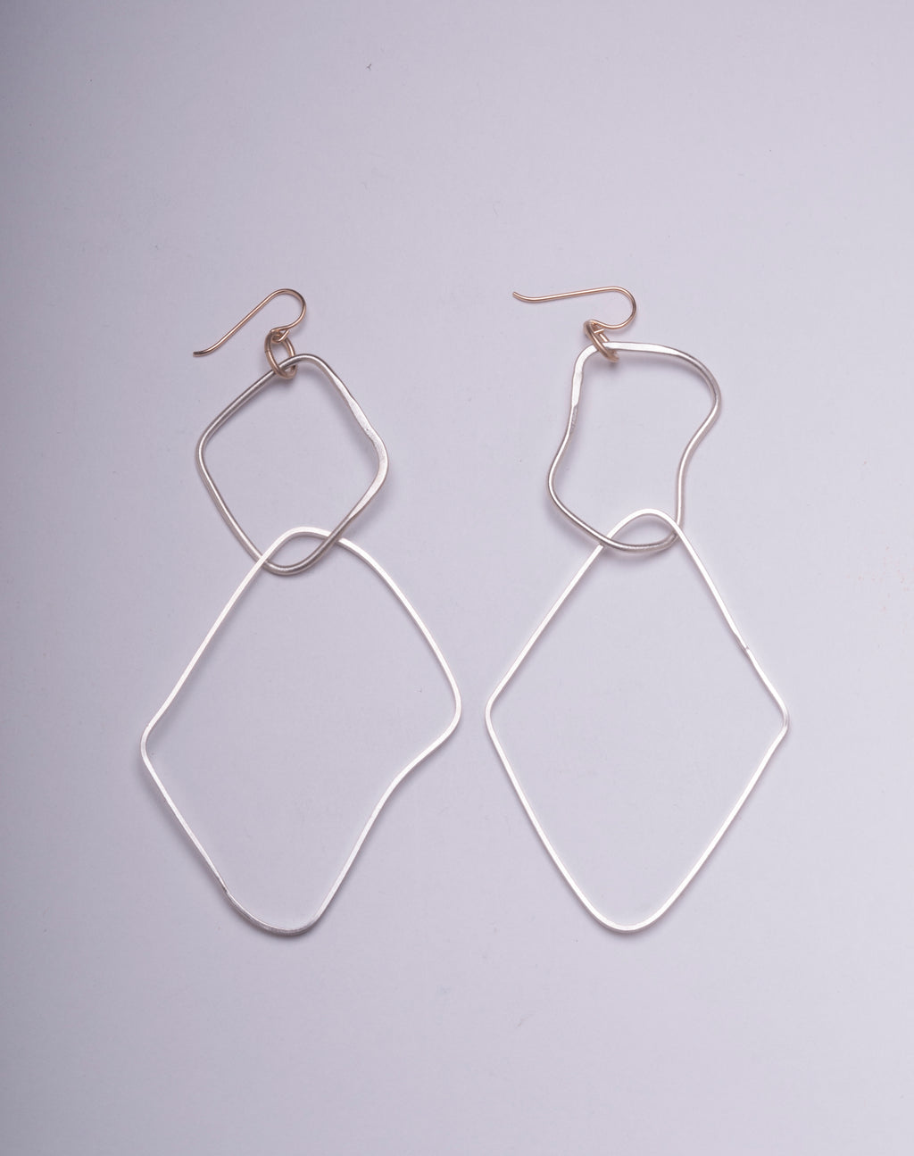 ASYMMETRICAL RECTANGLE DOUBLE HOOPS