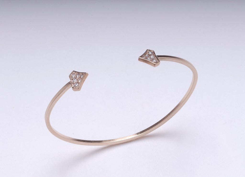 DIAMOND SHIELD CUFF YELLOW GOLD