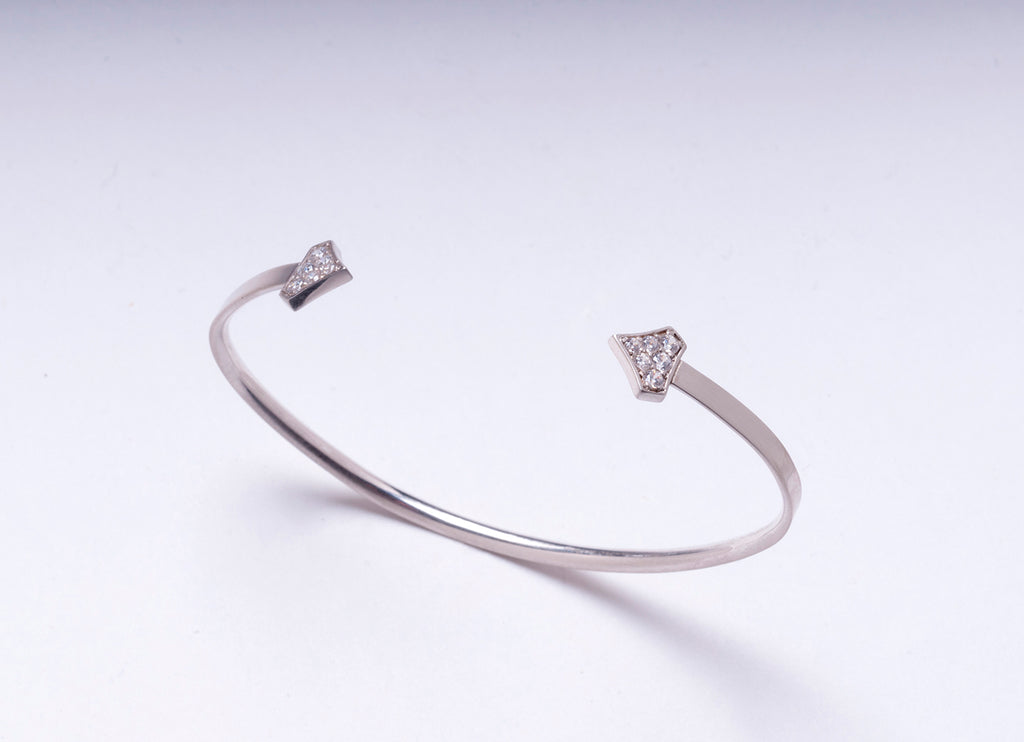 DIAMOND SHIELD CUFF WHITE GOLD