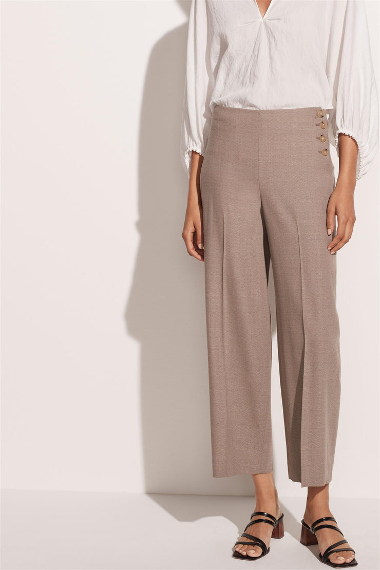 High Waist Cropped Trouser Tropical Sand