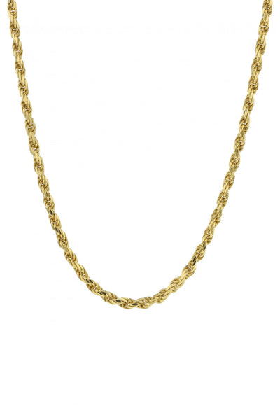 Rocks Rope Necklace Gold