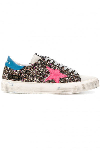 May Sneakers M2Multiglitter Fucsia Star