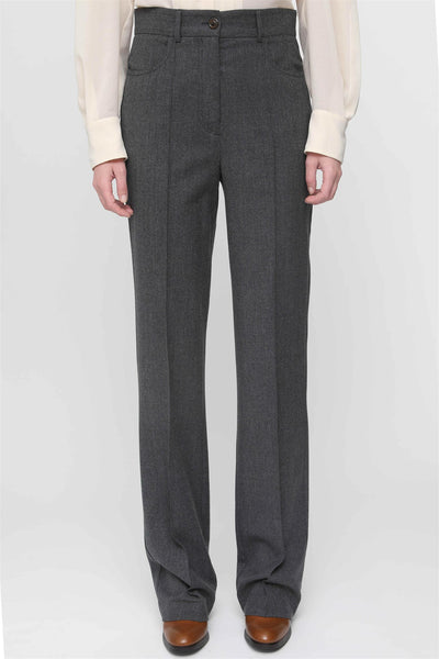 Straight Leg Suit Pants Charcoal Black