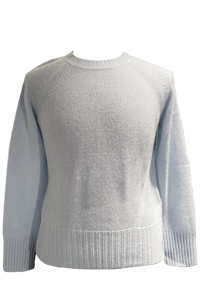 Crew Neck Cashmere Sweater Light Blue