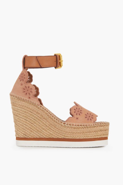 Glyn Wedge Espadrilles Beige/Natural