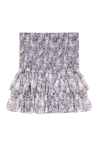 Naomi Printed Skirt Faded Night