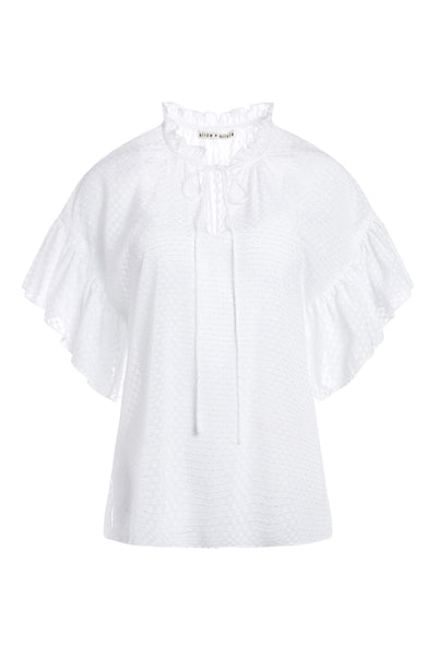 Julius Short Tunic Top White