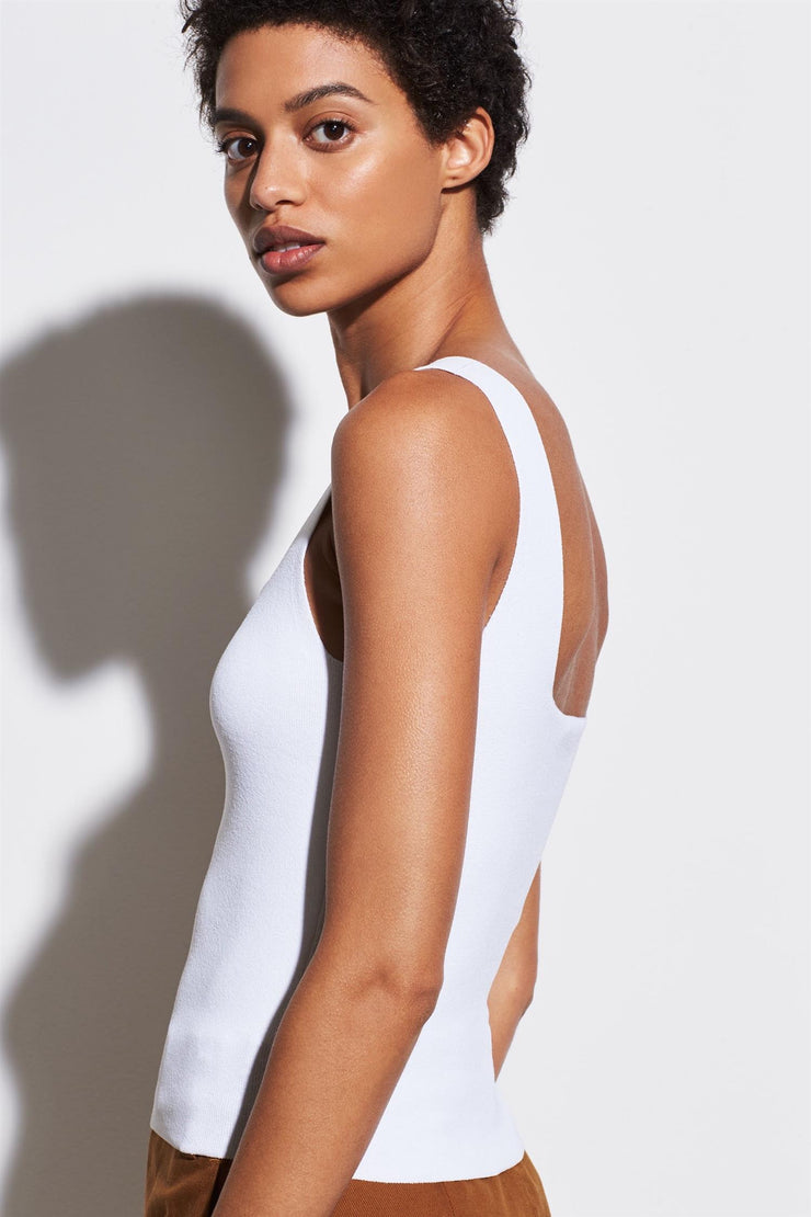 Square Neck Tank Optic White