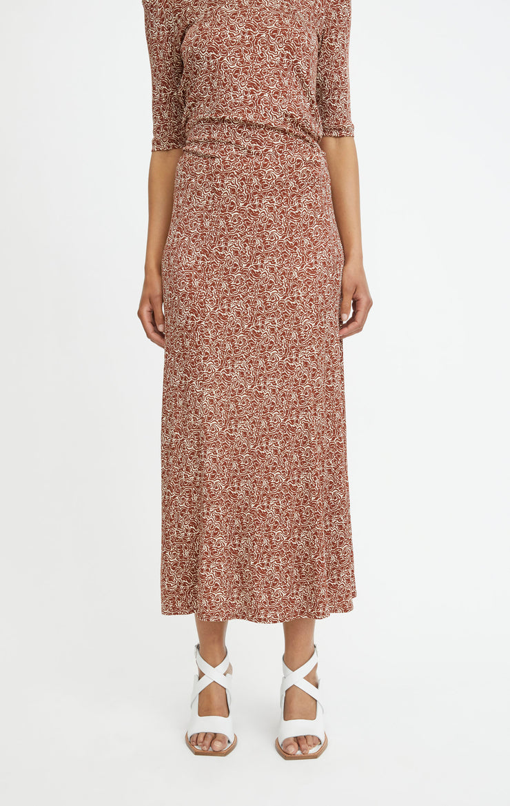 Inec Swirl Skirt Raw Umbra