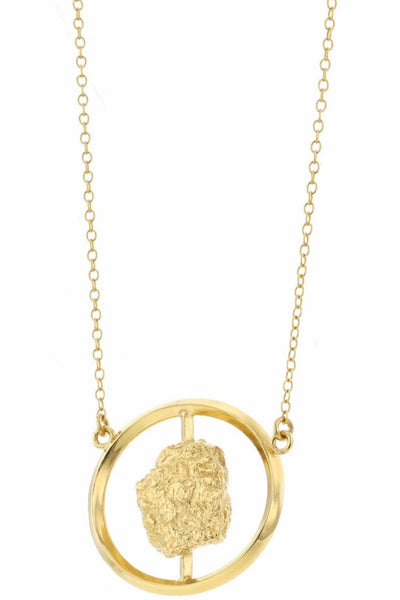 Grus Erosion Circle Necklace Gold