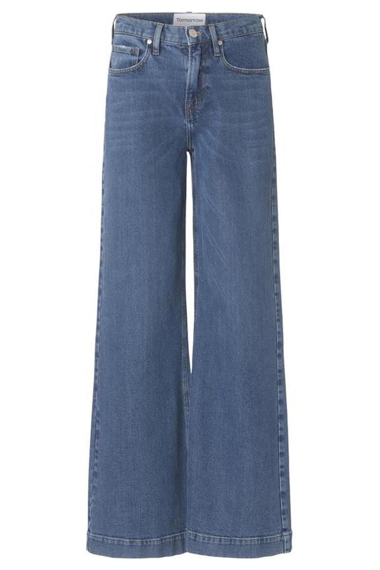 Kersee Highwaist Flare Dark Iowa Denim Blue