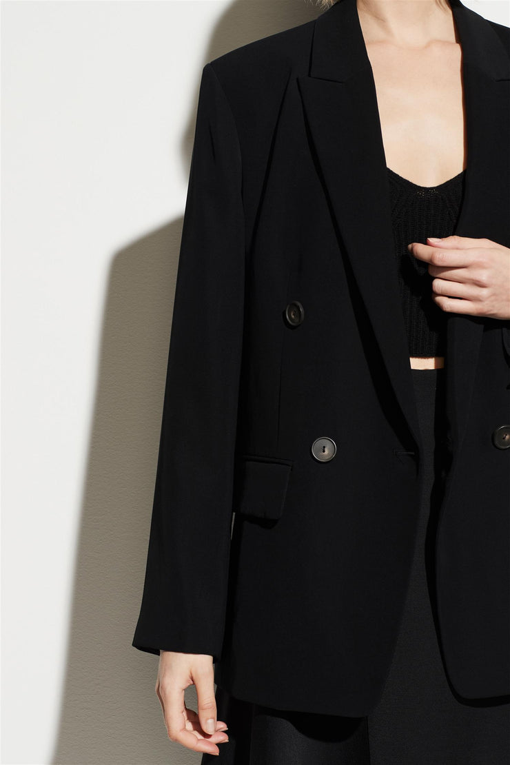 Husband Double Breasted Blazer Black