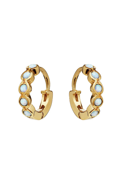 Kanya Earrings Blue Opal Gold