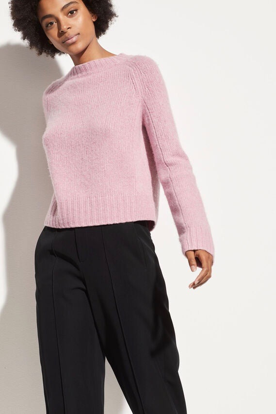 Shrunken Mock Neck Champagne Pink