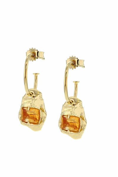 Fusion Combined Earrings Gold Orange Nanogem