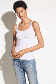 Scoop Neck Tank White