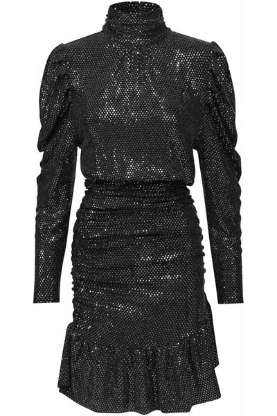 Saffron Dress Silver Sequin
