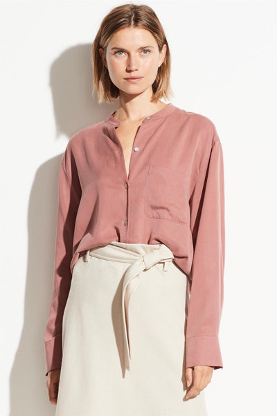 Relaxed Band Collar Blouse Esme