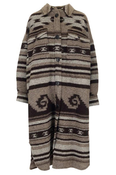 Gabrion Coat Navajo Blanket Taupe