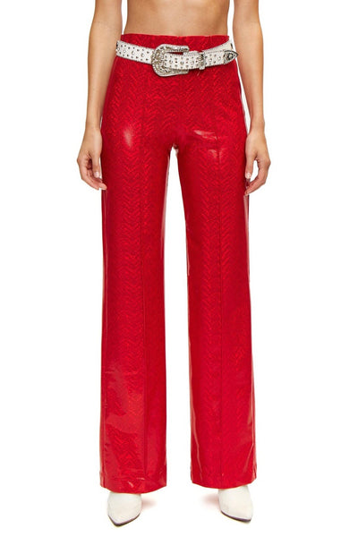 Lissay Red Shimmer Pants