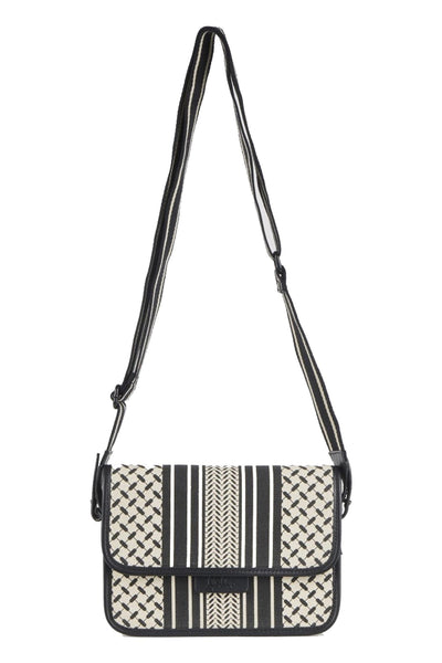 Crossbody Atlanta Kufiya Off-White/Black