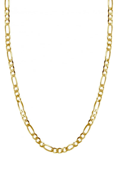 Flat Figaro Necklace Gold