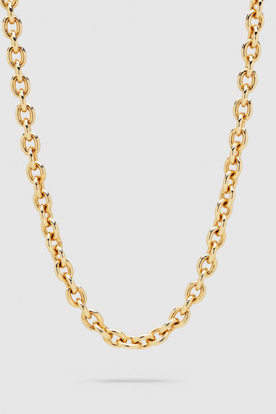 Ada Chain Thick Gold Short 17 inch