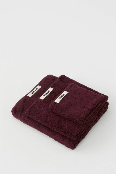 Washcloth 30x30 Plum Red