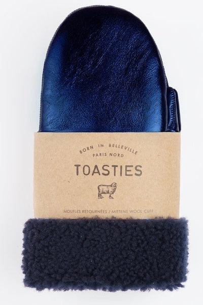 Mittens Metallic Navy 19