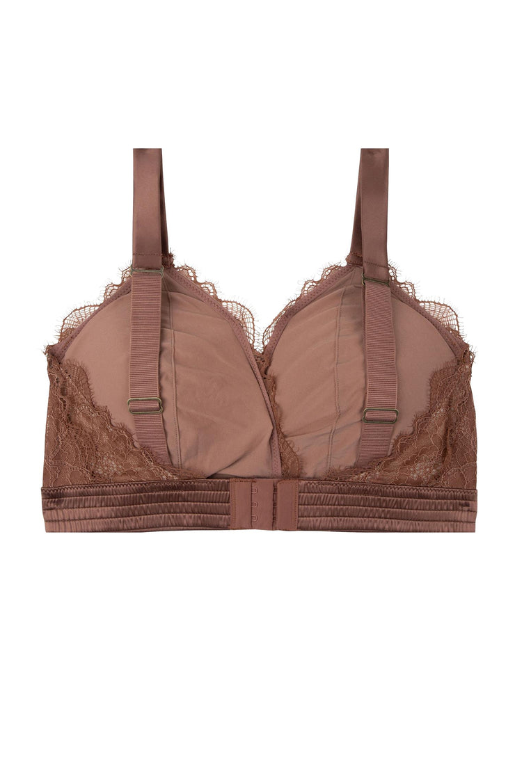 Grand Amour Darling Lace Padded Bra Swiss Chocolate