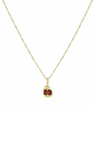 Fusion Vital Necklace Gold Red CZ