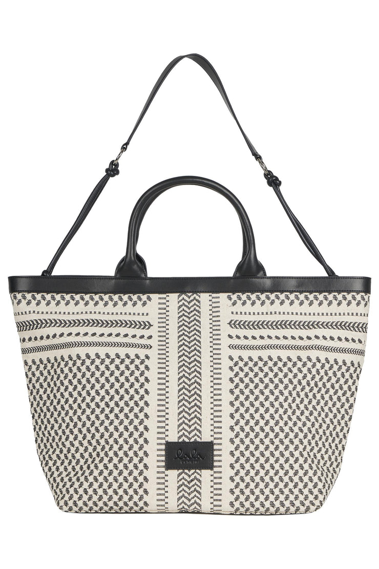 Lauren Tote Black X-Stitch