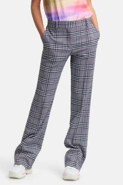 Checked Trousers Multicolor Blue