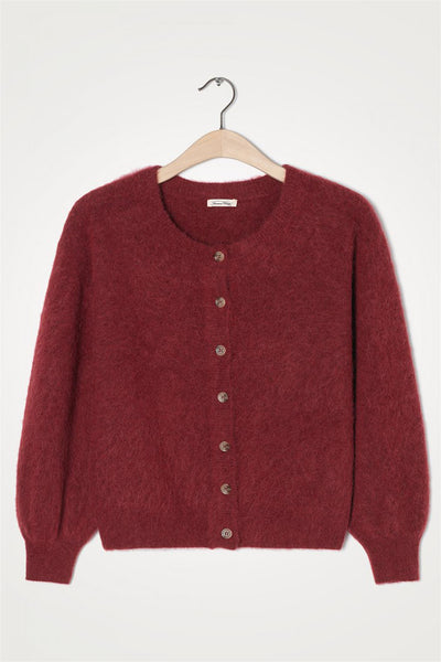Nuasky Cardigan Cranberry Multichine