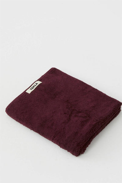 Hand Towel 50x80 Plum Red