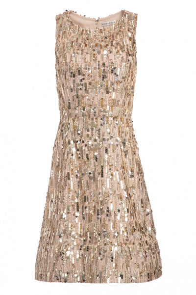 Lindsey Embellished Dress Sesame Gold