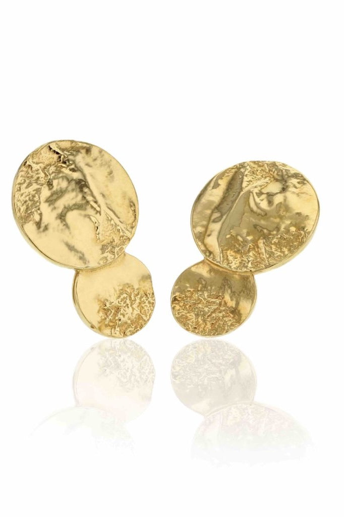 Solar System Midi Earrings Gold